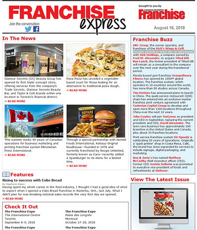 franchise express e newsletter archives from canadian business