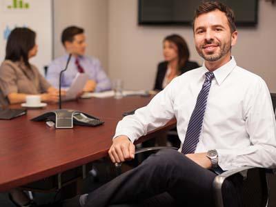 Happy Lawyer In An Office