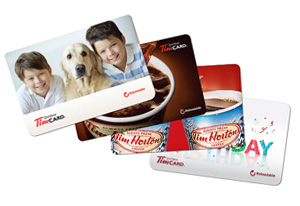 tim hortons personalized gift cards