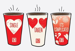 7 Eleven Canada Offers Relationship Status Coffee Cups On