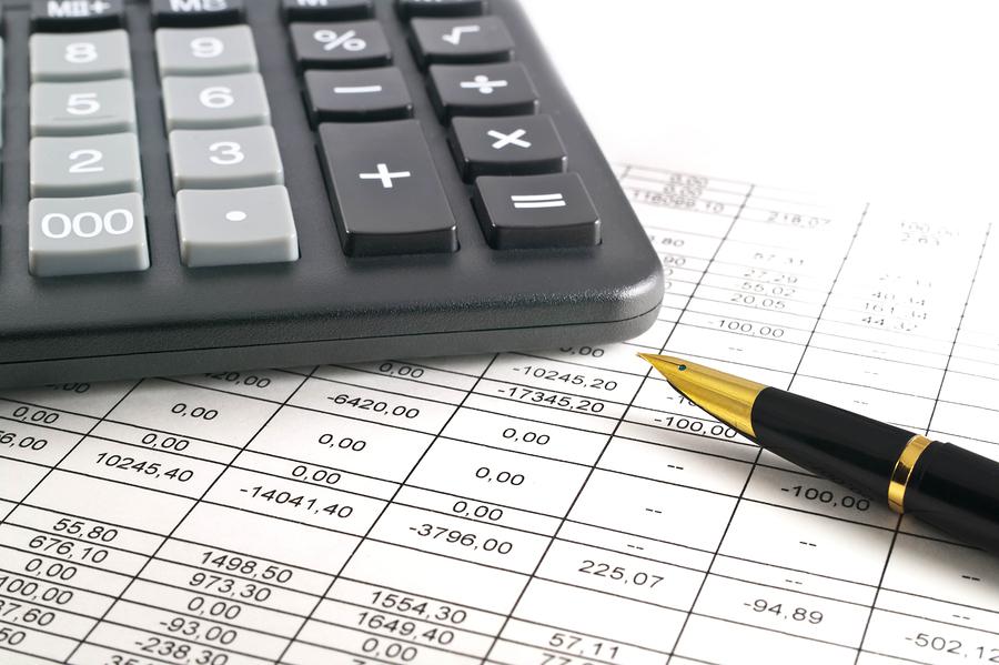 A calculator pen and financial statement, Pen