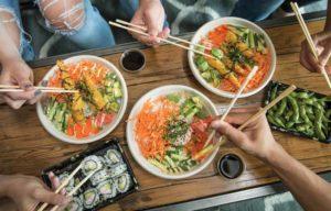 Sushi was added to Edo Japan's menu in 2006.