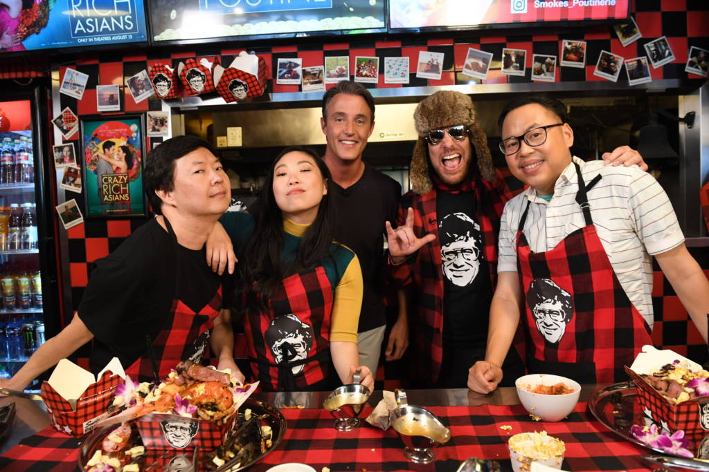 Crazy Rich Asians stars Ken Jeong, Awkwafina, and Nico Santos join Ben Mulroney and Smoke's Poutinerie founder Ryan Smolkin to build the World's Richest Poutine.