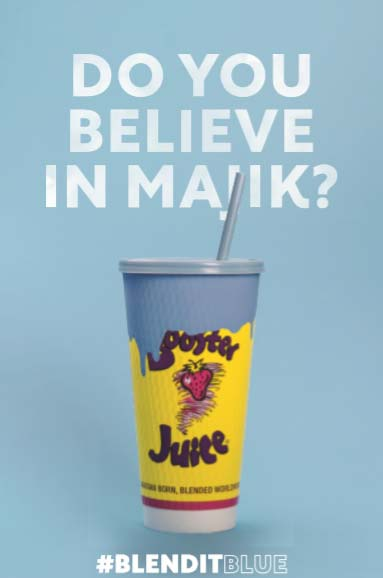 Booster Juice's Blue Majik products contain blue algae.
