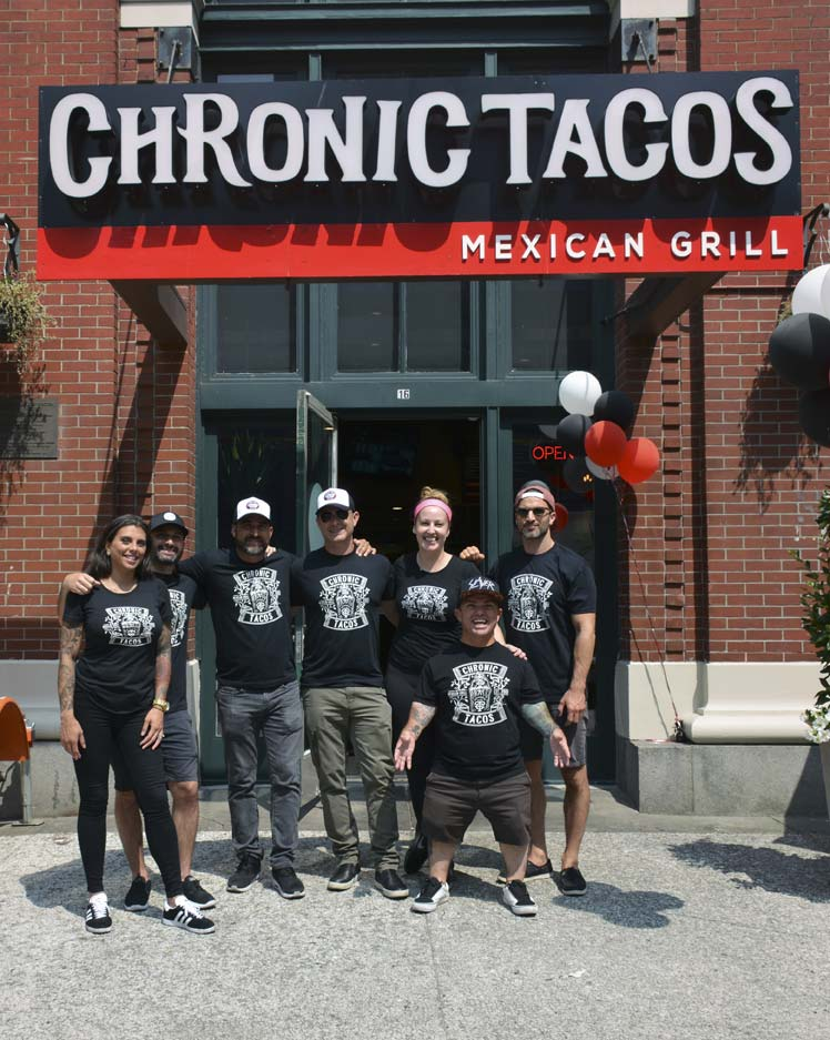 "Franchisee and television personality Jason ""Wee Man"" Acuna hosted the grand opening of Vancouver's Chronic Tacos franchise."