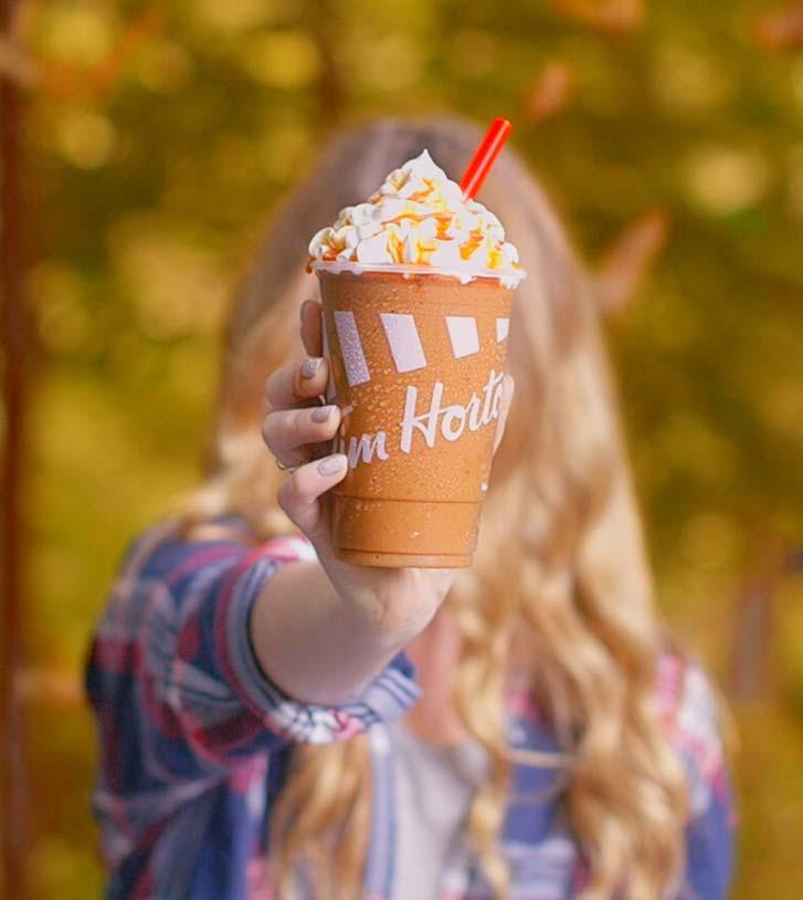 Tim Hortons' fall menu lineup includes the new pumpkin spice Iced Capp.