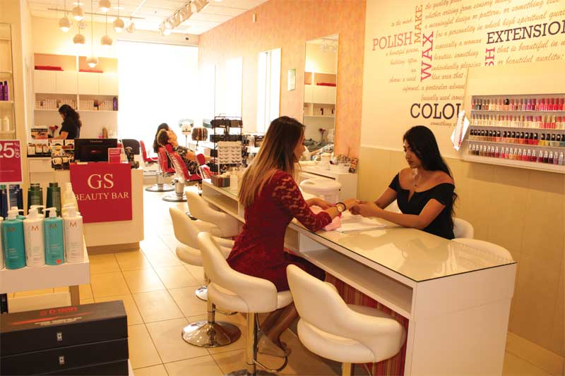 Our beauty bars offer beauty/salon services as well as products.
