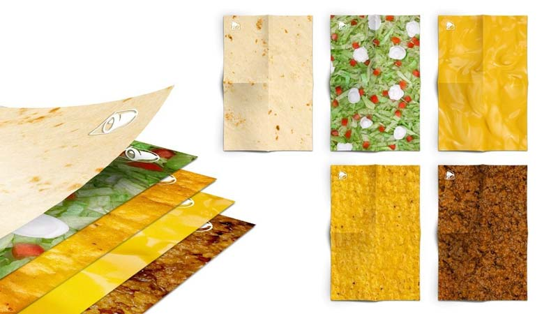 Taco Bell Canada's CrunchWrapping paper will be available on Amazon.ca until Dec. 16 or until supplies last.