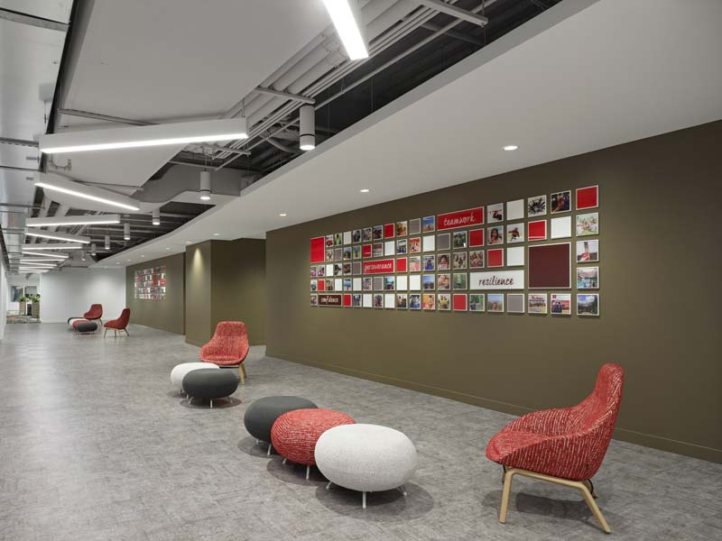 Canadian symbols and decorations are included throughout Tim Hortons new head office.