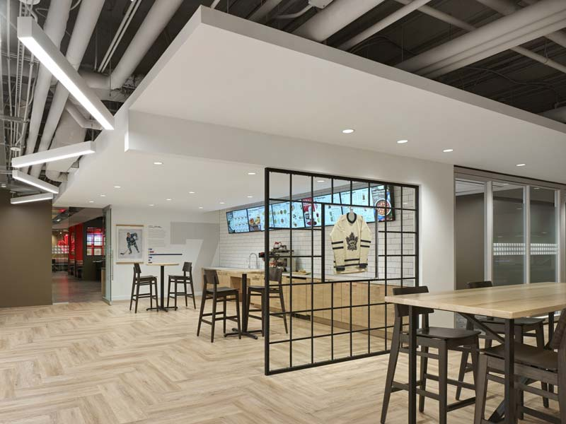 The two-level space features more than 20 coffee and tea brewing stations.
