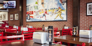The fire hall-themed restaurant consistently ranks number one in food quality, taste, flavour, and customer service categories.
