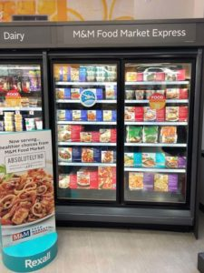 M&M Food Market Express complements the company's existing national franchise network by placing a select range of products in Rexall, Beau-soir convenience stores, and Avondale Food Stores to increase brand awareness.