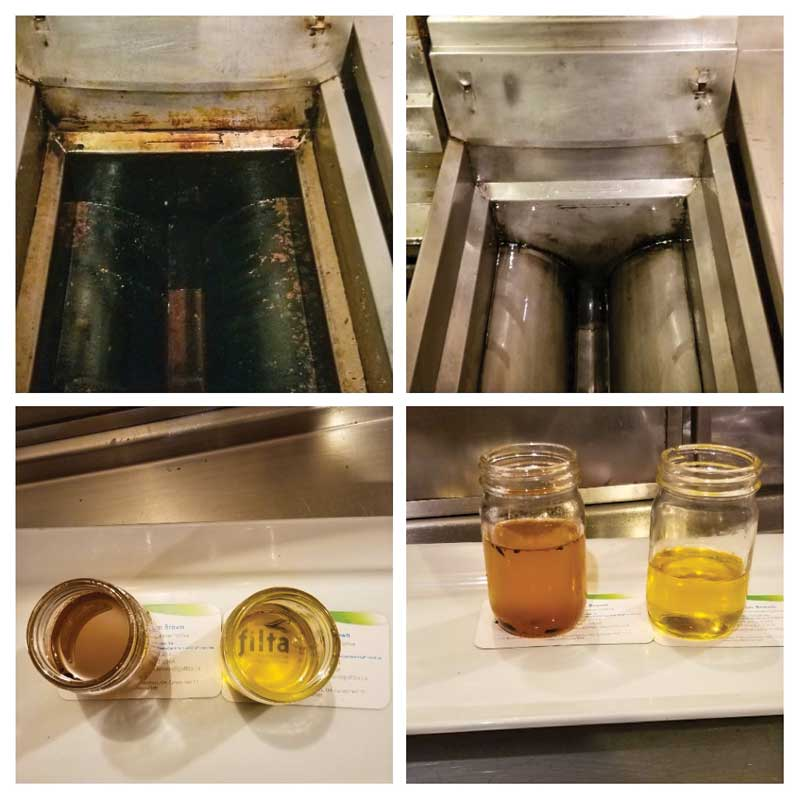 Filta technicians extract cooking oil from commercial fryers and micro-filter it to remove impurities.