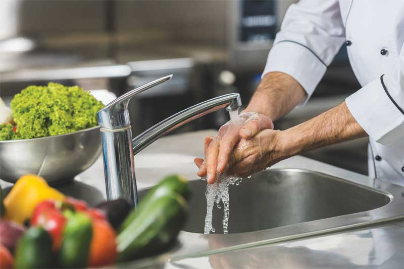 The Ontario Food Premises Regulation specifies the minimum standards for food temperatures, handling, sanitation, dishwashing, and personal hygiene practices.
