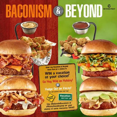 Until June 9, 2019, the Works will provide new burgers including meatless options.