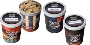 Ice cream franchise system, Baskin Robbins has partnered with Netflix to offer Stranger Things ice cream menu and collectable items.