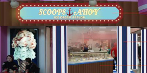 Woodbine Mall's Baskin-Robbins in Toronto will be transformed into a replica of the ice cream parlour 'Scoops Ahoy' from the web television series Stranger Things.