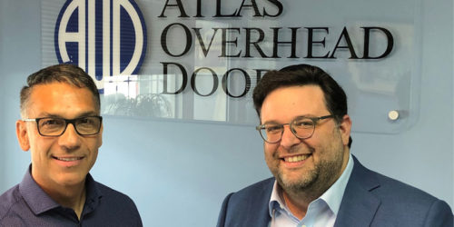 Atlas Overhead Doors has signed Valerio Gennaccao (left) as its first franchisee.
