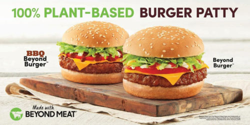 Tim Hortons adds two plant-based Beyond Burgers. BEYOND MEAT