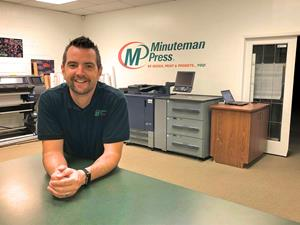Chris Harvey is the new owner of a Minuteman Press Franchise in London, Ont.