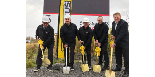 A groundbreaking ceremony was held to commemorate construction of OK Tire's new 18,580.6-m2 (200,000-sf) distribution centre in Valleyfield, Que.