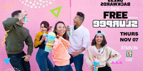 7-Eleven celebrates reverse birthday with free slurpees on Nov. 7.