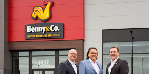 Benny&Co will be expanding its restaurant chain to new franchisees. Pictured from left to right: Yves Benny, vice president of new market development; Jean Benny, president; Vincent Benny, vice president of purchasing.