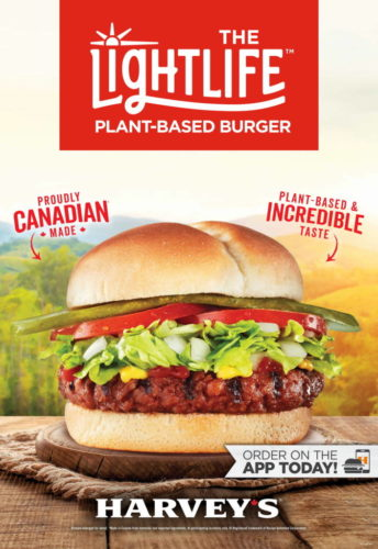 Harvey's and Lightlife Foods have announced a partnership to offer plant-based patties.