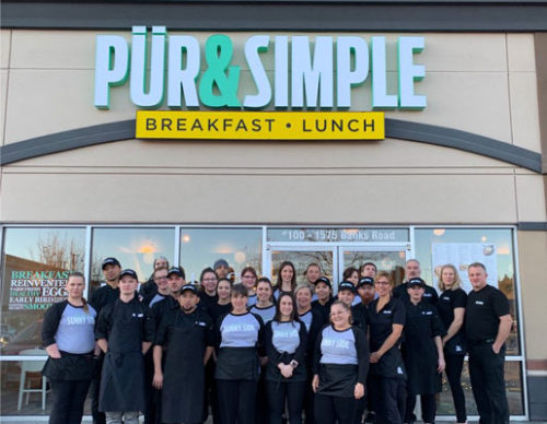 Food-service franchise system Pür & Simple has opened in Kelowna, B.C.