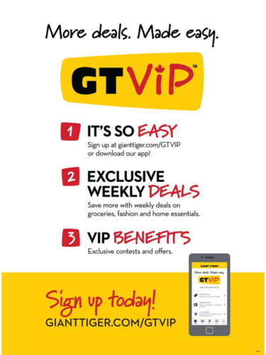 Giant Tiger Stores Ltd., has expanded its popular loyalty program GT VIP to the Atlantic and Quebec markets.
