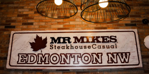 Food-service franchise system Mr. Mikes has opened its 46th location.