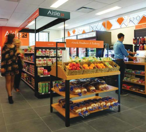 Aisle 24 offers customers with 24-hour access to high demand fresh foods and other grocery items.