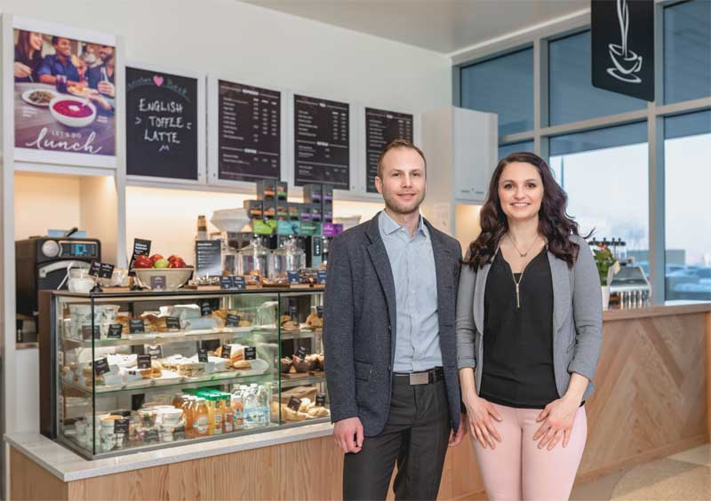 Good Earth Coffeehouse franchisees Joel and Chelsey Wilde.