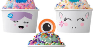 Baskin Robbins Canada has introduced Creature Creations, three new sundae options featuring mystical creatures such as monsters, unicorns, and mermaids.