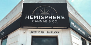 Hemisphere Cannabis Co., under the arms of Aegis Brands, recently opened its first location at 1703 Avenue Rd. in Toronto.