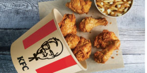 KFC Canada has announced plans to being serving its chicken bowls and poutines in bamboo buckets by the end of 2020. The company began testing the buckets in select Ontario and Quebec restaurants in November 2019.