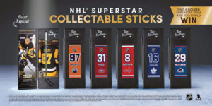 As the Stanley Cup playoffs roll on, Tim Hortons has unveiled limited-edition mini NHL Collectable Sticks, featuring six players, including Sidney Crosby and Mitch Marner.