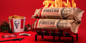 Inspired by the restaurant's 'secret recipe,' the limited edition 11 Herbs & Spices Firelog will be sold at Canadian Tire stores across the country and online.