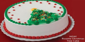 The new Rosette Christmas Tree Cake is just one of a few ways Baskin-Robbins is celebrating its 75th anniversary this December.