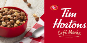 Post Tim Hortons Café Mocha Flavoured Cereal is now available across Canada.