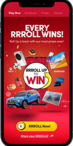 The all-digital Roll Up To Win contest has launched with the largest pool prize ever and no more 'please play again.'