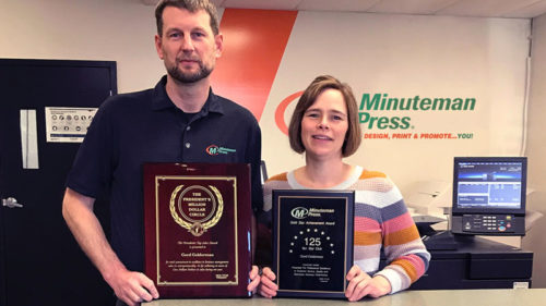 Despite the challenges of the COVID-19 pandemic, Chilliwack, B.C., Minuteman Press franchisees Gord and Alisa Gelderman achieved record sales in 2020.