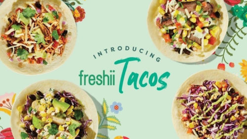 Healthy fast casual restaurant Freshii has launched four new flavour varieties of tacos.