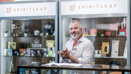 TEXT Inner Spirit Holdings recently celebrated the opening of its 100th Spiritleaf store in Ottawa, Ont. Company founder and CEO Darren Bondar was one of those in attendance.